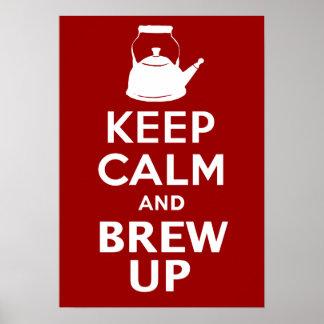 Guarde el Brew tranquilo encima del poster gigante Póster