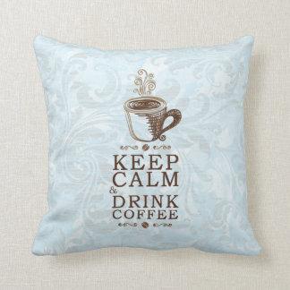 Guarde el café tranquilo de la bebida cojín