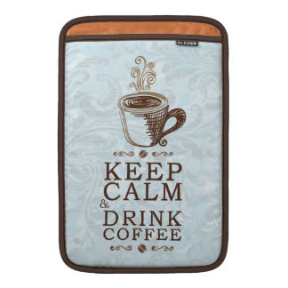 Guarde el café tranquilo de la bebida funda  MacBook