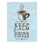 Guarde el café tranquilo de la bebida tarjetas postales