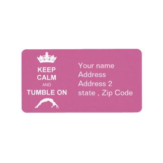 Guarde el cale y caiga etiqueta de dirección