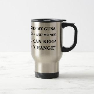 """Guarde el """"cambio """" tazas de café"""