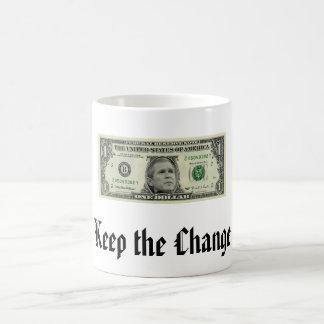 Guarde el cambio taza clásica