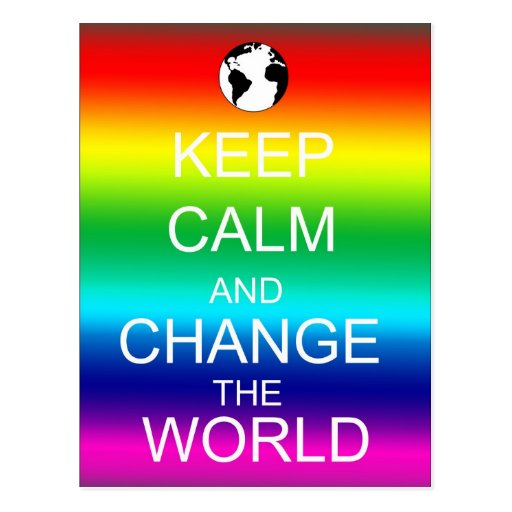 Guarde el cambio tranquilo la postal del arco iris