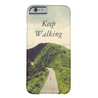Guarde el caminar cita inspirada y de motivación funda para iPhone 6 barely there