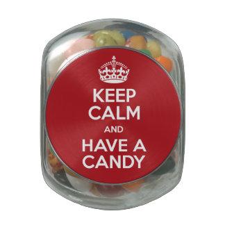 Guarde el caramelo tranquilo frascos de cristal jelly belly