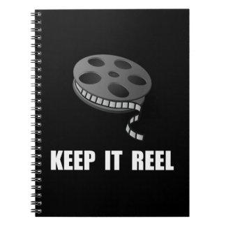 Guarde el carrete de la película libros de apuntes con espiral
