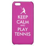 Guarde el caso de Iphone del tenis de la calma y d
