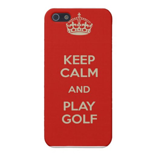 Guarde el caso del iPhone del golf de la calma y d iPhone 5 Protectores