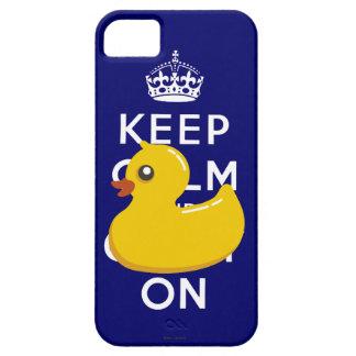 Guarde el caso Ducky de goma tranquilo del iPhone Funda Para iPhone SE/5/5s