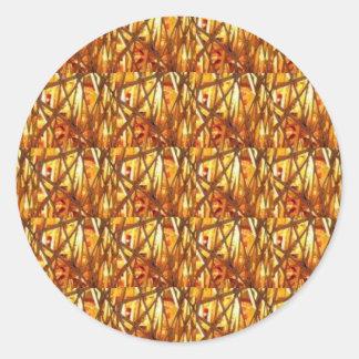 Guarde el cierre de la energía del oro: Filamento Pegatina Redonda