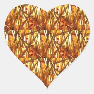 Guarde el cierre de la energía del oro: Filamento Pegatinas De Corazon