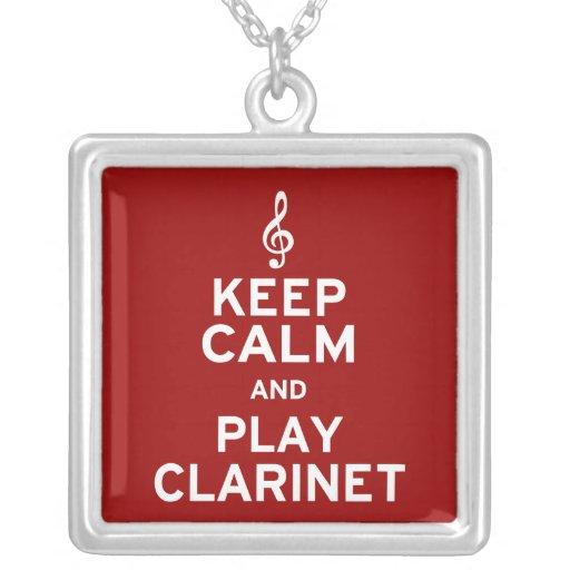Guarde el Clarinet de la calma y del juego Colgante Cuadrado