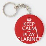 Guarde el Clarinet de la calma y del juego (cualqu Llavero