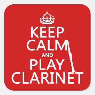Guarde el Clarinet de la calma y del juego (cualqu Colcomania Cuadrada