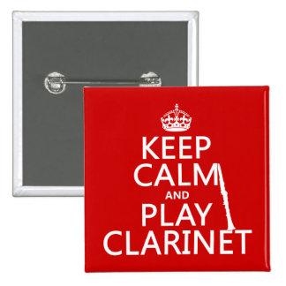 Guarde el Clarinet de la calma y del juego (cualqu Pin