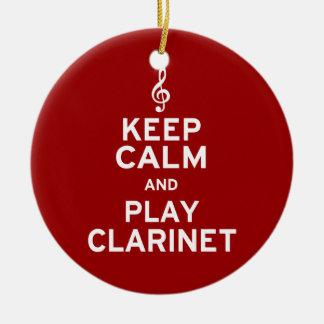 Guarde el Clarinet de la calma y del juego Ornamentos De Navidad