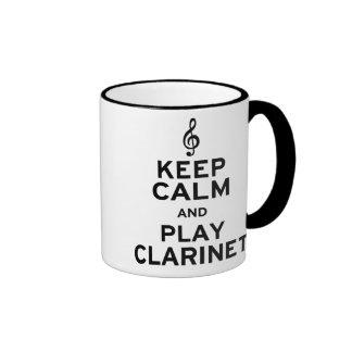 Guarde el Clarinet de la calma y del juego Tazas