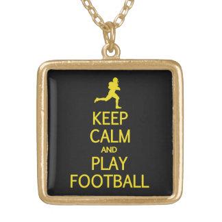 Guarde el collar de encargo del color del fútbol d