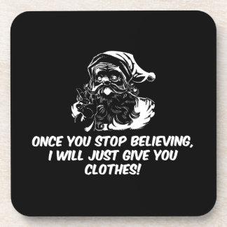 Guarde el creer del cuidado de Santas Posavasos De Bebidas
