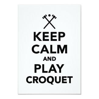 """Guarde el croquet de la calma y del juego invitación 3.5"""" x 5"""""""