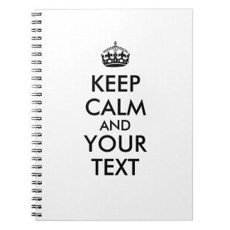 Guarde el cuaderno tranquilo para añadir su propio