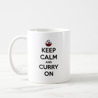 guarde el curry tranquilo encendido taza básica blanca