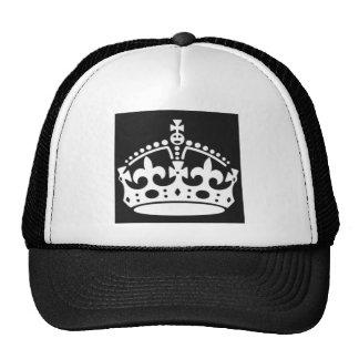 guarde el diseño tranquilo de la corona para crear gorras