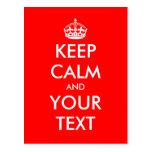 Guarde el diseño tranquilo del texto de la postal