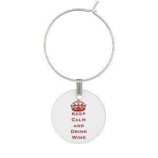 Guarde el encanto tranquilo de la copa de vino identificador de copa
