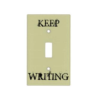 Guarde el escribir cubiertas para interruptor