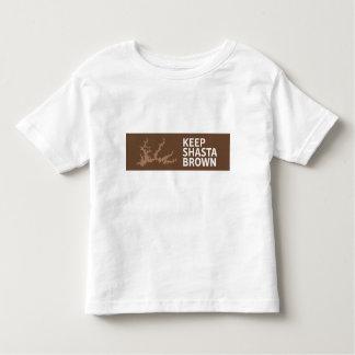 Guarde el estilo del niño de Shasta Brown Camiseta