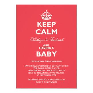 Guarde el fiesta de fiesta de bienvenida al bebé invitaciones personalizada