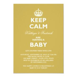 Guarde el fiesta de fiesta de bienvenida al bebé invitacion personalizada