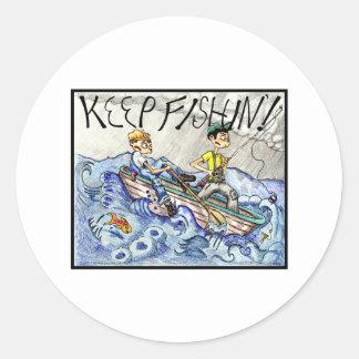 GUARDE el FISHIN'! Pegatinas Redondas