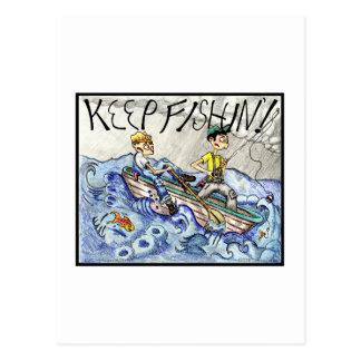 GUARDE el FISHIN'! Postal
