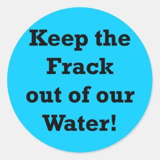 Guarde el Frack fuera de nuestra agua Etiquetas