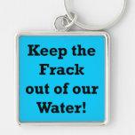 Guarde el Frack fuera de nuestra agua Llavero Personalizado