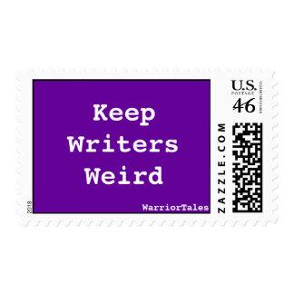 Guarde el franqueo extraño de los escritores