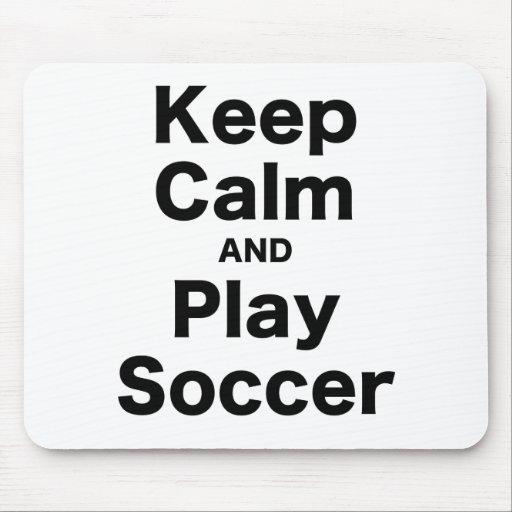 Guarde el fútbol de la calma y del juego alfombrillas de ratones