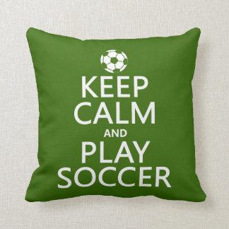 Guarde el fútbol de la calma y del juego (cualquie almohada