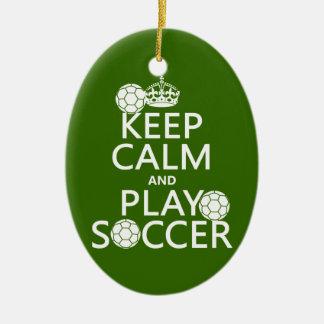 Guarde el fútbol de la calma y del juego (cualquie ornamento de reyes magos