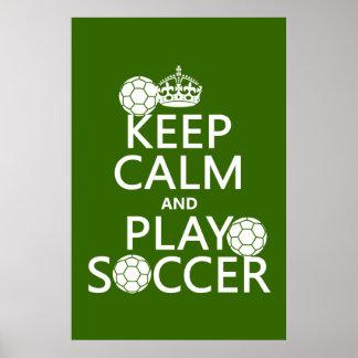 Guarde el fútbol de la calma y del juego (cualquie posters