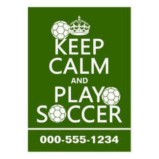 Guarde el fútbol de la calma y del juego (cualquie tarjetas de visita grandes