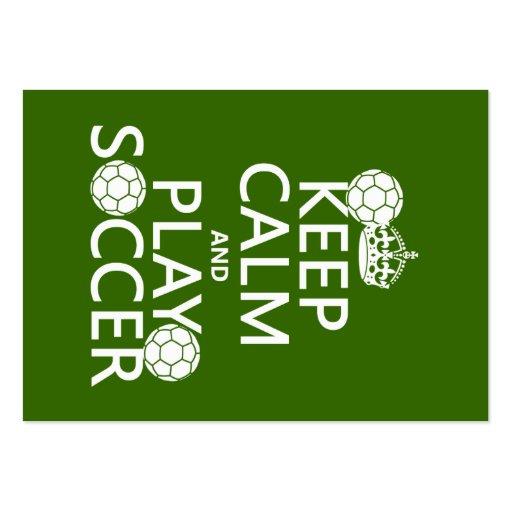 Guarde el fútbol de la calma y del juego (cualquie tarjetas personales