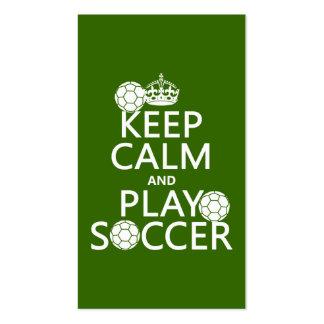Guarde el fútbol de la calma y del juego (cualquie plantillas de tarjetas personales