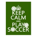 Guarde el fútbol de la calma y del juego (cualquie postales