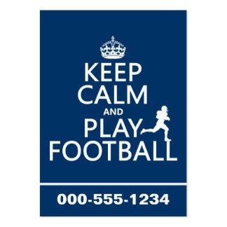 Guarde el fútbol de la calma y del juego (el color plantillas de tarjetas de visita