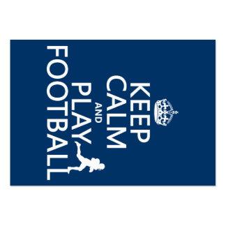 Guarde el fútbol de la calma y del juego (el color tarjetas de visita