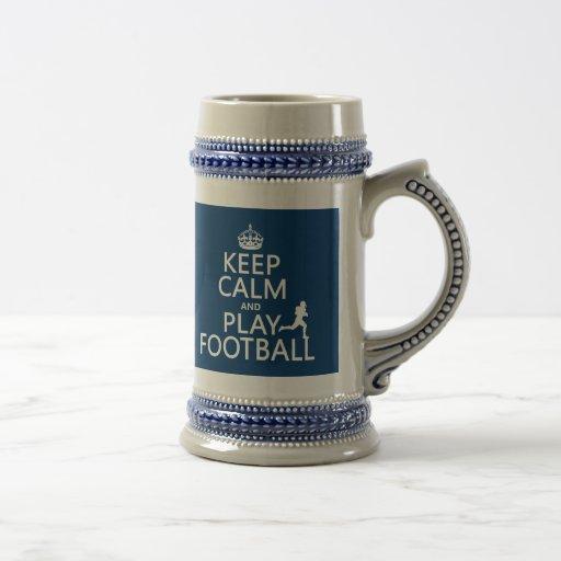 Guarde el fútbol de la calma y del juego (el color tazas